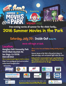 Movie In The Park Hourglass 2016-07-30